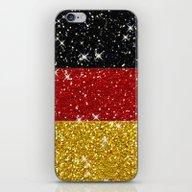 Glitters Germany Flag Wi… iPhone & iPod Skin