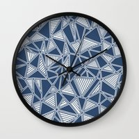 Abstract Outline Lines N… Wall Clock