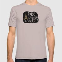 Paris Is Always A Good I… Mens Fitted Tee Cinder SMALL