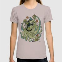 DRUNKTAPUS Womens Fitted Tee Cinder SMALL