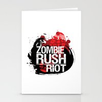 Zombie Rush: Riot Stationery Cards