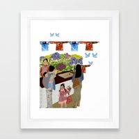 Happy Valley Flower Market Framed Art Print