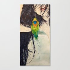 Feather Girl Canvas Print