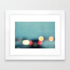 winter nights Framed Art Print