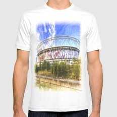 West Ham Olympic Stadium London Art SMALL Mens Fitted Tee White