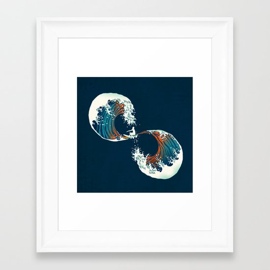 The Wave is forever Framed Art Print