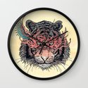 Masked Tiger Wall Clock