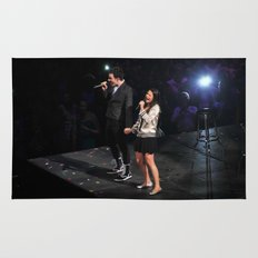 Glee Concert: Lea Michele and Chris Colfer Rug