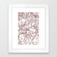 Axes, Cats, And Hands Framed Art Print