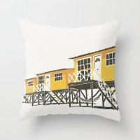 On Paper: Tres Amarillos Throw Pillow