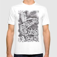 Allons-Y! Mens Fitted Tee White SMALL