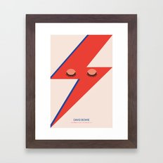 Music Minimals - David Bowie Framed Art Print