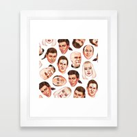 Faces of The Dwarf Framed Art Print