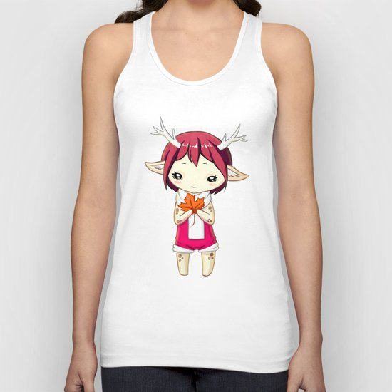 Deer Girl Unisex Tank Top