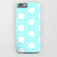 Nieuwland Powder Blue Hexagons Pattern iPhone 6 Slim Case