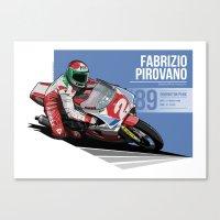 Fabrizio Pirovano - 1989 Donington Park Canvas Print