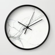 Wall Clock featuring Carrara Marble by Santo Sagese
