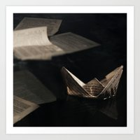 Drowning in your words  Art Print