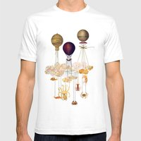 High In The Sky Mens Fitted Tee White SMALL