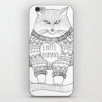I Hate Humans. iPhone & iPod Skin