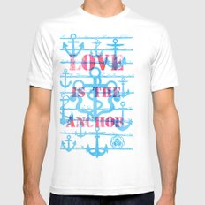LOVE is the Anchor Mens Fitted Tee SMALL White