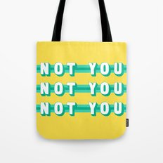 The Fighter, Not You (Rule of Threes) Tote Bag