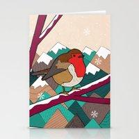 Winter Robin  Stationery Cards