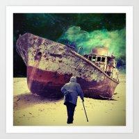 ship Art Prints featuring Ship by Cs025