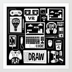 It's a Game Dev World Art Print