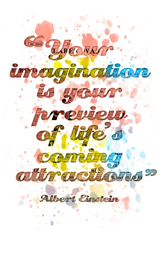 Imagination / Albert Einstein Art Print