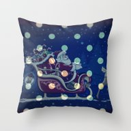 Santa Claus Riding His S… Throw Pillow