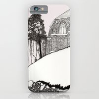 iPhone & iPod Case featuring St. Vigeans (black and white) by Pat Butler