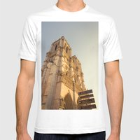 Paris Cathedral Notre Da… Mens Fitted Tee White SMALL