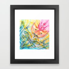 Yellow Fire Spirits Framed Art Print