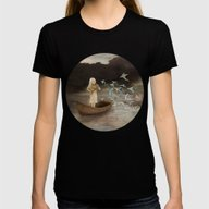 Solo At Dawn Womens Fitted Tee Black SMALL