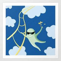 Always Cool Fly With The Wind Art Print