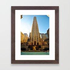 The Building. Rockfeller Center, New York. Framed Art Print