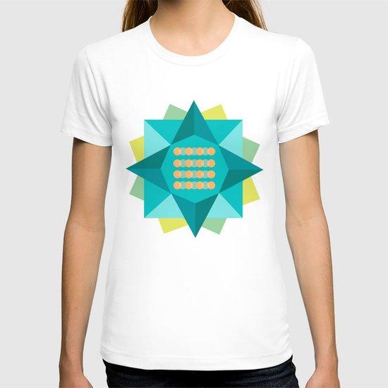 Abstract Lotus Flower - Yoga Print T-shirt