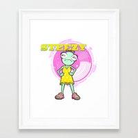 Lil' Steezy Framed Art Print