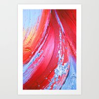 Acrylic Abstract On Canv… Art Print