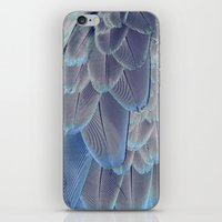 Silver Feathers iPhone & iPod Skin