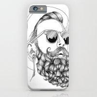beard & sunglasses iPhone 6 Slim Case