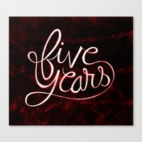 5 Years Canvas Print