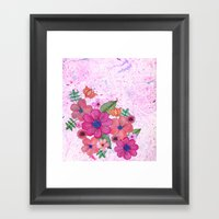 My Pink Garden Framed Art Print