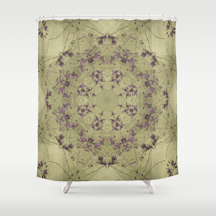 purple flower shower curtain by pic n mix society6