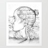 Mind Mansion Mandala For… Art Print