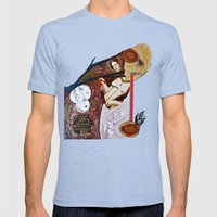 Deathgown Mens Fitted Tee Tri-Blue SMALL