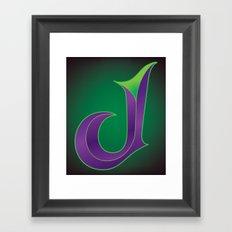 Alphabet J Framed Art Print