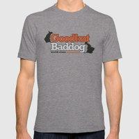 Goodkat & Baddog. Mens Fitted Tee Tri-Grey SMALL