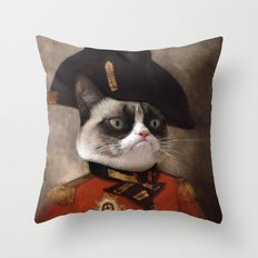 Angry Cat. Grumpy Genera… Throw Pillow